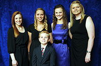The recipients for 2012 Military Child of the Year representing each branch of service.