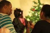 "Deja ""was mesmerized by the glittery ornaments and all the lights on the tree"""