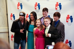 Bret Michaels pops in to meet and greet the kids before the gala.