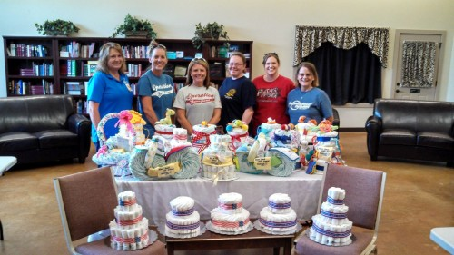 Volunteers help welcome the newest members of our military families at Star Spangled Baby Showers for military moms all across the country.