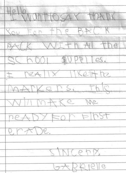 We smiled for days after receiving this.  Your support means the world to our military and veteran families.