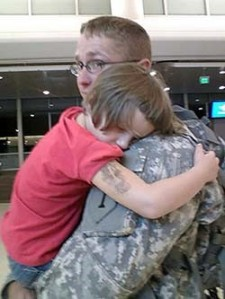 Like most military kids, Taylor has experienced the pain of separation from a parent who serves.