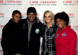 Carrie Underwood took time to meet Antwon Speller and his family, giving him and his family, helping to lift them out of the challenges of dealing with the wounds of war.