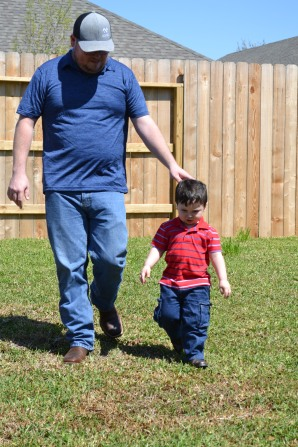 Joshua Woodard and son Elijah